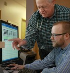 Dr. Hamner and sleep technician discuss test results